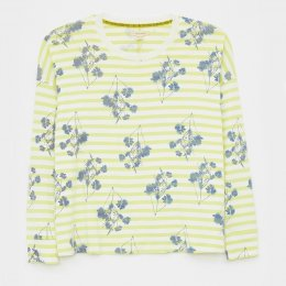White Stuff Dulcy Dropped Shoulder Tee - Yellow