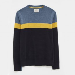 White Stuff Cane Stripe Crew - Navy