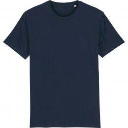 Organic Cotton Round Neck Short Sleeve T-Shirt - Navy