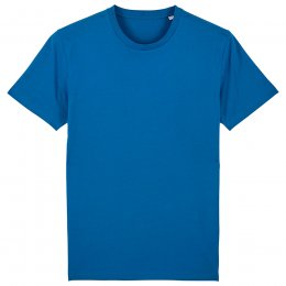 Organic Cotton Round Neck Short Sleeve T-Shirt - Royal Blue