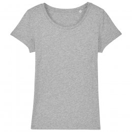Organic Cotton Scoop Neck T-Shirt - Grey