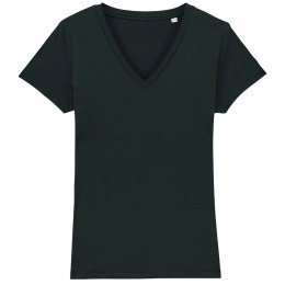 Organic Cotton V-Neck T-Shirt - Black