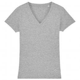 Organic Cotton V-Neck T-Shirt - Grey