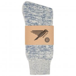 Happy Hiking Wool Socks - Blue Marl
