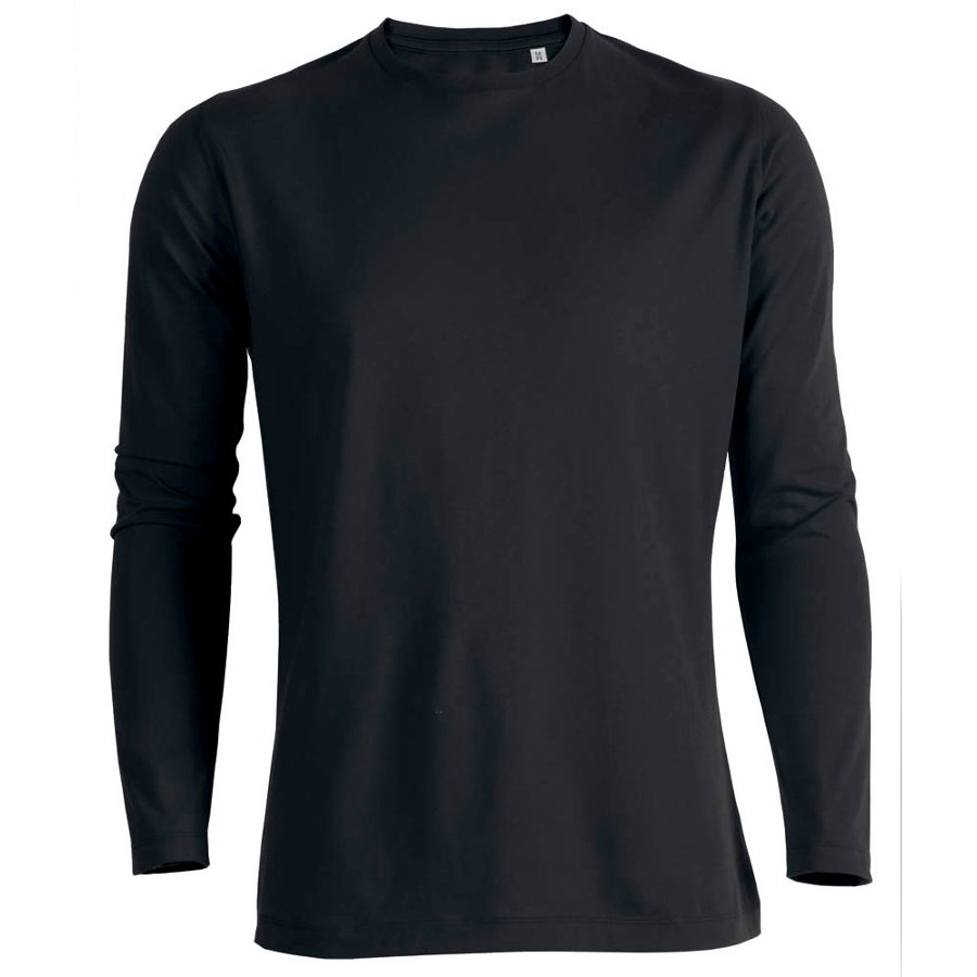 Mens Organic Cotton Round Neck Long Sleeve T-Shirt - Natural Collection  Select 9145983f639