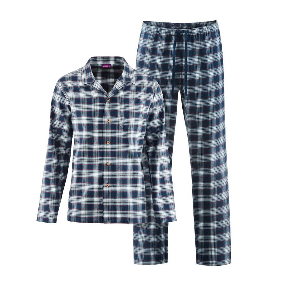 cd7623348e Men's Flannel Check Pyjamas - Natural Collection Select